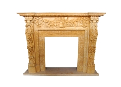 Hand-carved Marble Fireplace Mantel - LF0113