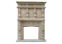 Hand-carved Marble Fireplace Mantel - LH0004