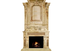 Hand-carved Marble Fireplace Mantel - LH0025