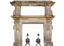 Hand-carved Marble Fireplace Mantel - LH0027