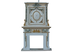 Hand-carved Marble Fireplace Mantel - LH0046