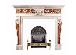 Hand-carved Marble Fireplace Mantel - LM0029