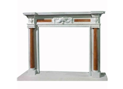 Hand-carved Marble Fireplace Mantel - LM0051