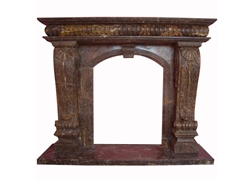 Hand-carved Marble Fireplace Mantel - LSA0016