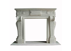 Hand-carved Marble Fireplace Mantel - LSA0022