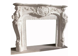 Hand-carved Marble Fireplace Mantel - LST0019