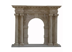 Hand-carved Marble Fireplace Mantel - LST0032