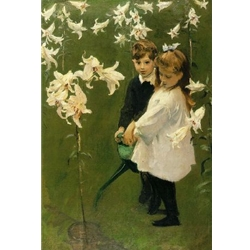 Garden Study of the Vickers Children, c. 1884, John Sargent