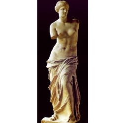 Venus de Milo, the mysterious sculpture and other museum quality ancient greek marble sculptures.