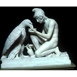 Jupiter and Ganymede Marble Neoclassicism Sculpture