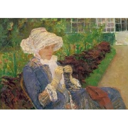 Lydia Crocheting in the Garden at Marly 1880