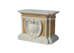 Bi-Color Fancy Carved Pedestal LC-8