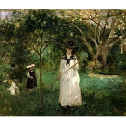 Butterfly Hunt , 1874; Berthe Morisot, French impressionist painter