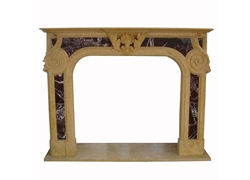 Hand-carved Marble Fireplace Mantel - SF-011
