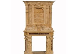 Hand-carved Marble Fireplace Mantel - SF-130