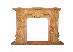 Hand-carved Marble Fireplace Mantel - SF-075