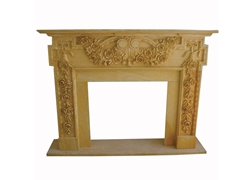 Hand-carved Marble Fireplace Mantel - SF-119