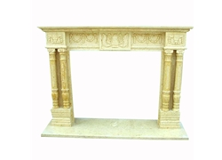 Hand-carved Marble Fireplace Mantel - SF-066