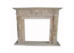 Hand-carved Marble Fireplace Mantel - SF-020