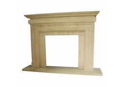 Hand-carved Marble Fireplace Mantel - SF-063