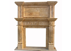 Hand-carved Marble Fireplace Mantel - SF-132
