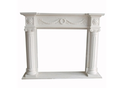 Hand-carved Marble Fireplace Mantel - SF-167