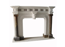 Hand-carved Marble Fireplace Mantel - SF-151