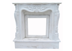 Hand-carved Marble Fireplace Mantel - SF-163