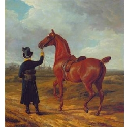 Lord Rivers's Groom Leading a Chestnut Hunter towards a Coursing Party in Hampshire 1807