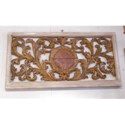 Wood carved architectural window-1