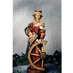 Woodcarving Saint Katharina