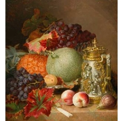 Still Life of Fruit from Nature with a Tankard  Stannard Eloise Harriet 1829 - 1915