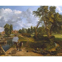 Flatford Mill Scene on a Navigable River