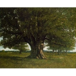 The Oak at Flagey Gustave Courbet