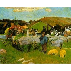 The Swineherd Brittany 1888 Paul Eugéne-Henri Gauguin