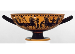 Kylix, ca. 540-530 b.c.; black-figure