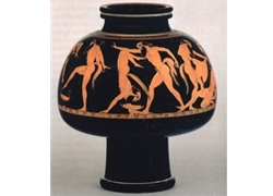 Psykter Depicting rReveling satyrs