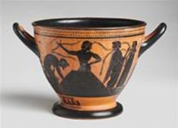 Attic Black Figure Skyphos