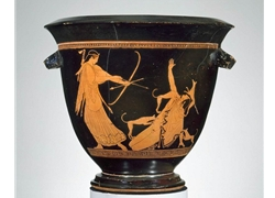 Bell Krater Aktaion Meets his Demise