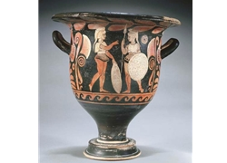 Bell Krater Two Warriors