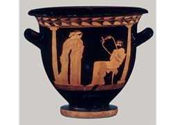 Bell Krater Woman Seated