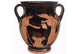 Bell Krater Belly Amphora Zeus and Nike