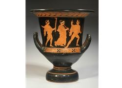 Calyx Krater a Thiasos Procession Led by a Nude