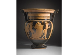 Column Krater Dionysos Between Satyrs