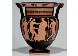 Column Krater Procession of Maenads and Satyrs