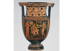 Column Krater Women and Two Youths in Oscan Dress