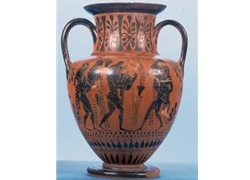 Neck Amphora with Satyrs and Maenads