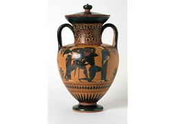 Neck Amphora Scenes of Apollo Entertaining