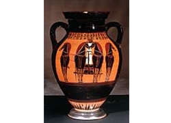 Belly Amphora Departure of a Four Horse Chariot