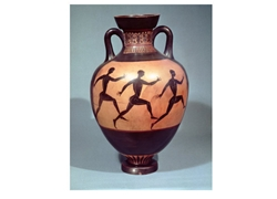 Panathenaic Amphora Black Figure Depicting a Foot Race